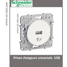 prise usb murale schneider odace schneider prises chargeurs universels usb s520408