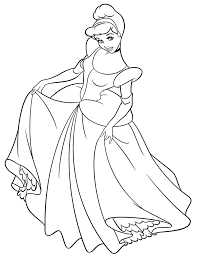 Princess Cinderella Coloring Pages For Kids