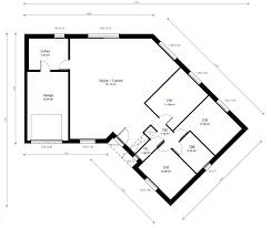 plan maison plain pied 3 chambres en l plan maison individuelle 3 chambres 48 habitat concept en v avec