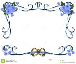 Blue Wedding Borders Clipart 1