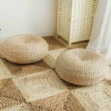 runde zimmer boden stroh matte handgemachte stroh woven sitzkissen esszimmer tatami woven stroh pad