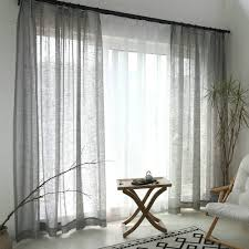 minimalismus gardine grau unifarbe im wohnzimmer zu