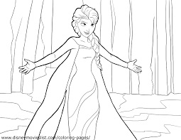 Elsa From Frozen Coloring Pages