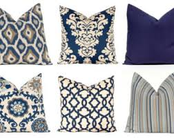 Decorative Pillow Covers Navy Blue Throw