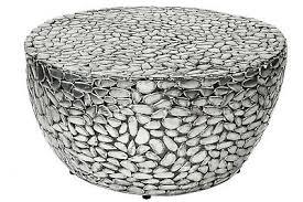 couchtisch silber rund 85cm metall mosaik design tisch