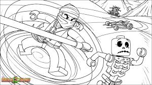 LEGO Ninjago Coloring Page Cole Fighting Skeletons Printable Color Sheet