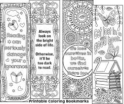 Printable Coloring Bookmarks 1