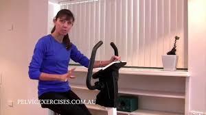 High Tone Pelvic Floor Dysfunction Exercises by Stationary Bike Set Up For Pelvic Floor Safe Exercises Youtube