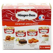 haagen dazs 4 mini pots caramel attraction caramel beurre salé