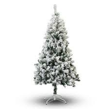 75 Slim Flocked Christmas Tree by 8 Ft Flocked Christmas Tree Wayfair