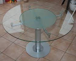 esszimmer glastisch rund mit drehbarer mitte eur 250 00