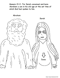 Colouring Page Of Abram And Sarah Pregnant At Churchhousecollection Resources Abraham20and20Sarah20coloring20page