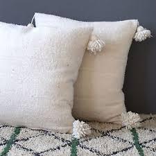 Set of 2 Gorgeous Moroccan Pom Pom Pillows matched with Pom Pom