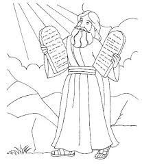Coloring Pictures Of Moses And The Red Sea Bible Pages Preschool