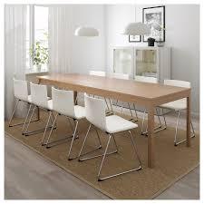 ekedalen bernhard tisch und 6 stühle eiche mjuk weiß