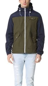 penfield rochester 2 tone rain jacket in natural for men lyst