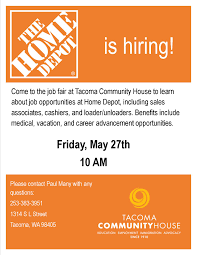 Home Depot Hiring Event Ta a munity House