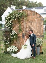 Old Barn Door Wedding Ceremony Backdrop