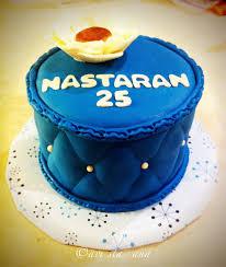 A Lot of Sugar Blue Birthday Cake