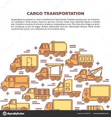 100 Types Of Construction Trucks Cargo Transportation Banner Template With Different Types Of Trucks