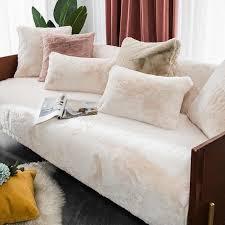 winter warm plüsch sofa abdeckung wohnzimmer faux pelz sofa