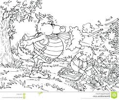 Three Pig Coloring Pages 3 Pigs