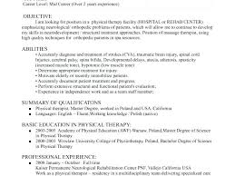 Spa Therapist Resume Splendid Physical Samples Examples About Unbelievable Therapy Sample 9