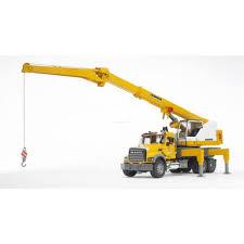 100 Bruder Mack Granite Liebherr Crane Truck MACK 02818 Jadrem Toys Australia