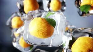 animation cuisine oranges rotate in cubes food and broadcast concept