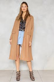 downtown train trench coat shop clothes at nasty gal