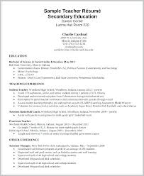 Middle School Teacher Resume Examples Teaching Template New High Sample