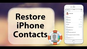 Restore Recover Deleted or Lost Contacts to iPhone X 8 8 Plus 7
