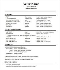 Acting Resume No Experience Template How To Create A Good Is Usually Used For People Who Want Give The