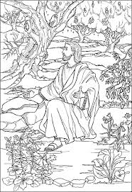 Jesus Prays In The Garden Coloring Page 2
