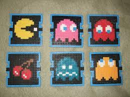 Pac Man Stencil Pumpkin Carving by Pac Man Beverage Coasters Perler Beads 6 Steps