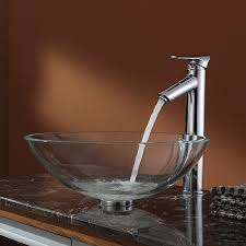 Kraus Vessel Sinks Combo by Clear Glass Bathroom Sinks Crystal Clear Glass Vessel Bathroom