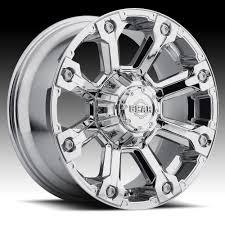 100 Gear Truck Wheels Alloy 719C Backcountry Chrome Custom Rims Alloy