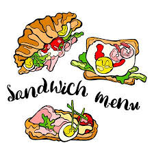Sandwich With Egg Tomato Lettuce Ham Cheese Isolated Vector