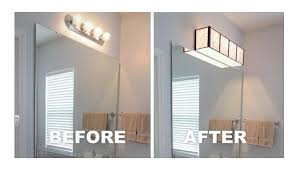 Bathroom Light Fixtures Over Mirror Home Depot by Install A Bathroom Light Yourself Louie Lighting Blog