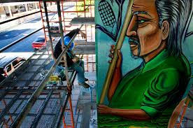 touching up a revolution in chicano park voice of san diego
