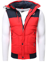 norway down vest sleeveless red