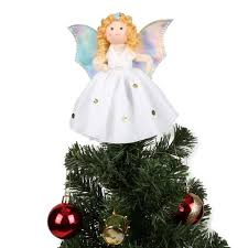 Aytai Small Angel Christmas Tree Topper 7 Inch Ornaments For Mini Decoration Home Decorations