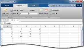 Matlab Cell To Double by View Edit And Copy Variables