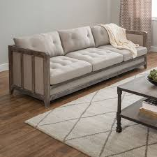 This Beautiful Creston Sofa Features Comfortable And Durable Fire Retardant Foam Cushioning Wrapped In Beige