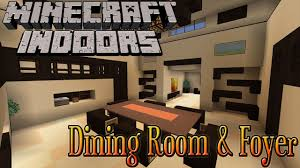 Minecraft Pe Living Room Designs by Minecraft Indoors Dining Room U0026 Foyer Youtube