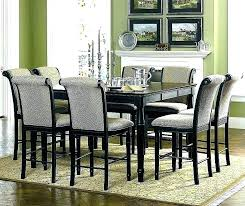 Tall Dining Table Set Breakfast 8 Chair Counter Height