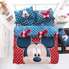Minnie Mouse Bedroom Set Full Size by Red Mickey And Minnie Mouse Full Size Kids Cartoon Bedding Set