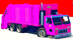 100 Pink Dump Truck Toy Truck Kids Video Learn Colors Baby Songs Superhero Fun