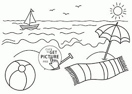 Trendy Beach Coloring Pages Image 3