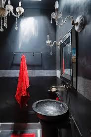 badezimmer in schwarz und grau mit bild kaufen
